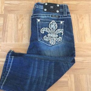 Girls miss me capri jeans